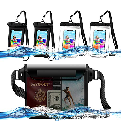 Disnadda 5 Pack Waterproof Case and Waterproof Dry Bag for iPhone up to 6.8Inches,Waterproof Phone...