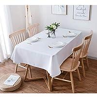 テーブルクロスダイニングテーブルカバーダイニングテーブルカバー長方形の正方形のパターンカントリースタイルの綿厚さ耐熱綿リネンキッチンダイニングルーム (Color : White, Size : 140*200CM)