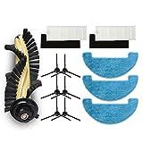MZXUN Filtro + Pinceles + MOP + Esponja para DEBOT CEN663 CEN664 CEN664 DM82 Aspirador