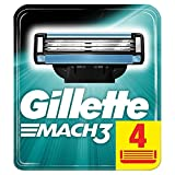 Gillette mach-3Cartridge–Pack de 4
