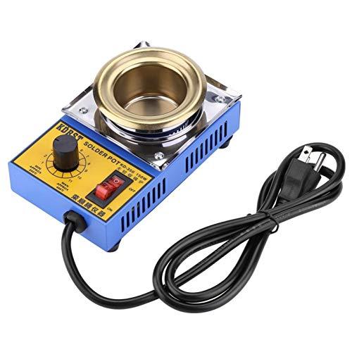 Recipiente de soldadura duradero para soldadura, 110 V 150 W Baño de desoldadura de soldadura sin plomo 50 mm 200-450 ℃ (enchufe de EE. UU.) Con temperatura constante automática para transformadores P