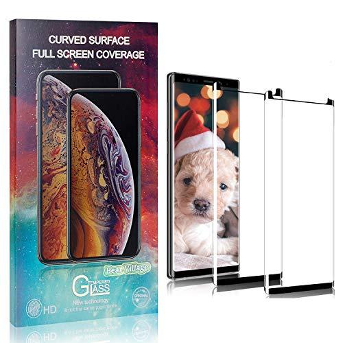 Bear Village Displayschutzfolie für Galaxy Note 9, Anti Fingerabdruck, Keine Luftblasen, Ultra Dünn HD Schutzfolie aus Gehärtetem Glas für Samsung Galaxy Note 9, 2 Stück