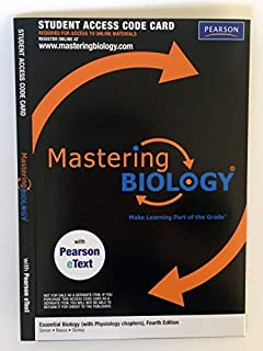 MasteringBiology Student Access Kit with Pearson EText for Essential Biology (with Physiology Chapters) (ME Component) by Eric J. Simon (2009-09-04)