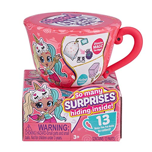 Itty Bitty Prettys Tea Party Little Teacup Doll Assortment (Includes 12 Surprises!) by ZURU, Medium (9701)