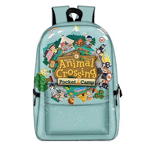 Zaino Animale Crossing Cartoon Full Stampato Bookbag Grande Capacità Studente Schoolbag