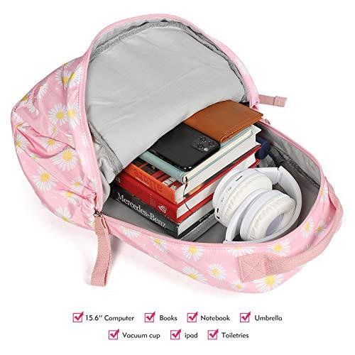 FITMYFAVO School Backpack For Girls Women Teens Lightweight Elementary BookBags Durable Schoolbag (Daisy Pink)
