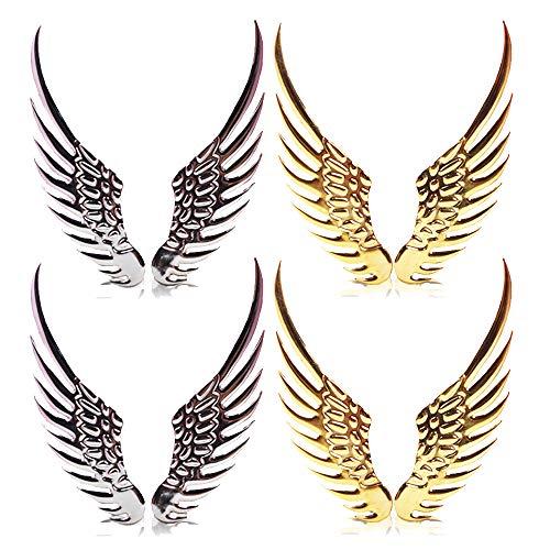 Guanici Adhesivo de decoración de alas de Metal 3D Etiqueta engomada del Coche ala ángel ala Etiqueta Engomada del Coche Alas 3D Personalice Las calcomanías metálicas Decorativas de la carrocería