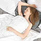 Ourea Soft Weighted Blanket Full Size for Adults (48'x 72',15 lbs), 15 Pounds with Glass Beads-White