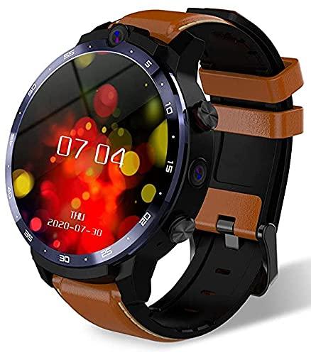LEMFO LEM12 Pro Smart Watch per telefono Android e iOS, batteria 900mAh Display da 1,6 pollici LTE 4G 4GB + 64GB Memoria 5.0mp 8.0mp Doppia fotocamera con Face Unlock (Brown)