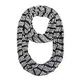 Lenfesh Bufanda Mujer Mujeres Solid bufanda infinito con bolsillo oculto,Cremallera Bolsillo Bufandas para hombre y mujer Fulares a Rayas