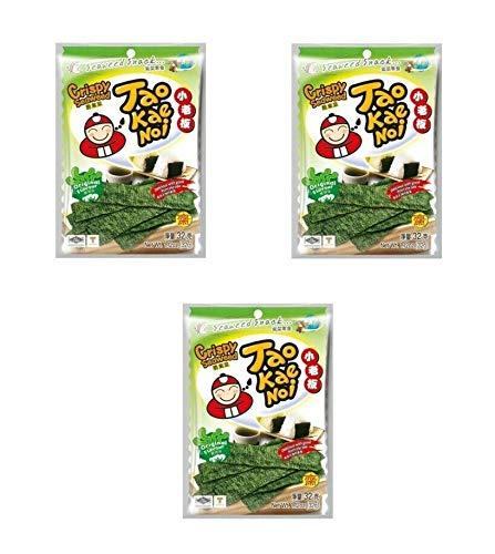 Pamai Pai® Dreierpack: 3 x 32g Seetang Snack Original Flavour knusprige Seealgen knabbern
