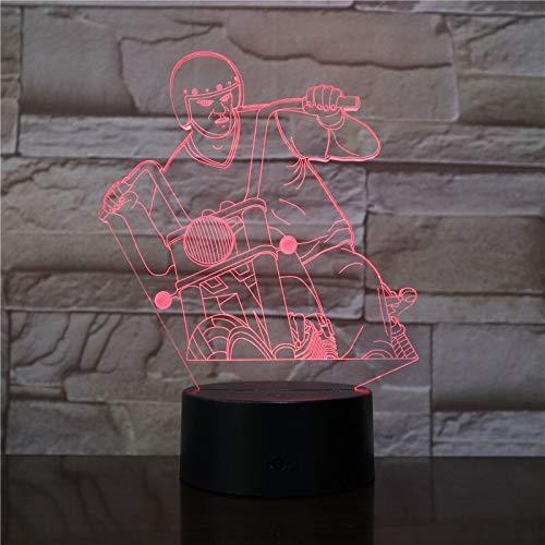 Luce di notte della decorazione di USB del commutatore di tocco della lampada 3D del LED acrilico acrilico del motore di guida per illuminazione di sonno del bambino