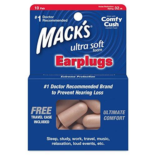 Protetor Auricular Mack's Ultra 32db - 10 Pares + Case