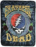 Bioworld Grateful Dead Steal Your Face Super Soft and Cuddly Fleece Plush Throw Blanket