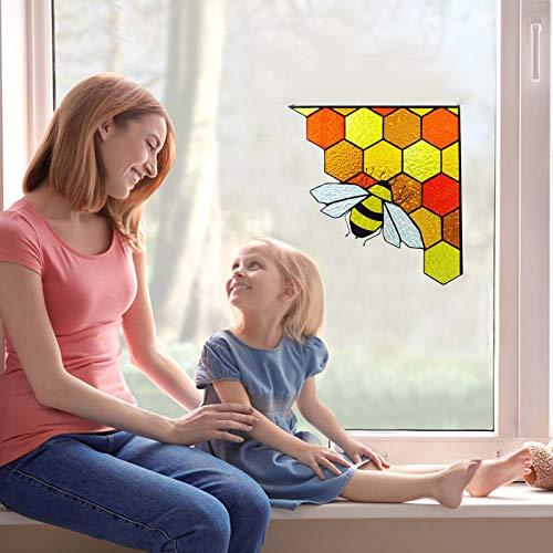 Pegatinas de pared de abeja, decoración de panal de jardín, decoración de panal para el hogar, aula, dormitorio, abeja, tema de fiesta, eventos de decoración (multicolor, 5 unidades)