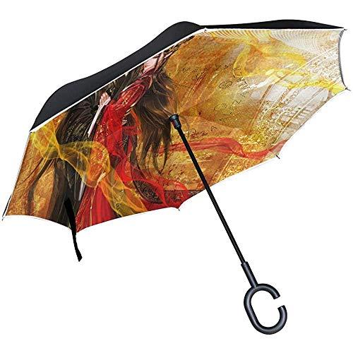 Paraguas inverso Fantasía Pareja Fondo de Pantalla Full HD Paraguas invertido Reversible Exterior Negro