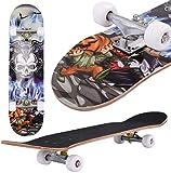 Oppikle Skateboard Komplettboard Mit ABEC-9 Kugellager Und...