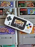 ARCADEMANIA PocketGO edición Super Nintendo (botones rainbow pre-instalados). Incluye BOLSA Protectora | MicroSD 32Gb | Nueva Bittboy con botones L y R | Consola classic mini