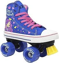 Lenexa Roller Skates for Girls - Pixie Little Princess Kids Quad Roller Skate - Indoor, Outdoor Children's Skate - Roller Skates Made for Kids - High Top Sneaker Style - Great for Beginners (J13)