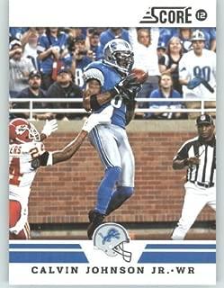 2012 Score Football Card #52 Calvin Johnson - Detroit Lions (NFL Trading Card)
