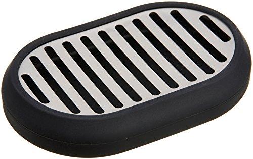 Amazon Basics Porte-savon en acier inoxydable, Noir