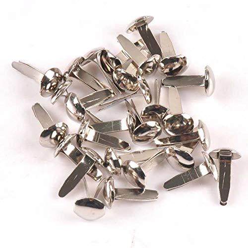 50 stks gemengde pastel ronde brads scrapbooking versiering sluiting brads metalen ambachten voor schoenen decoratie 8x13mm CP2236,7