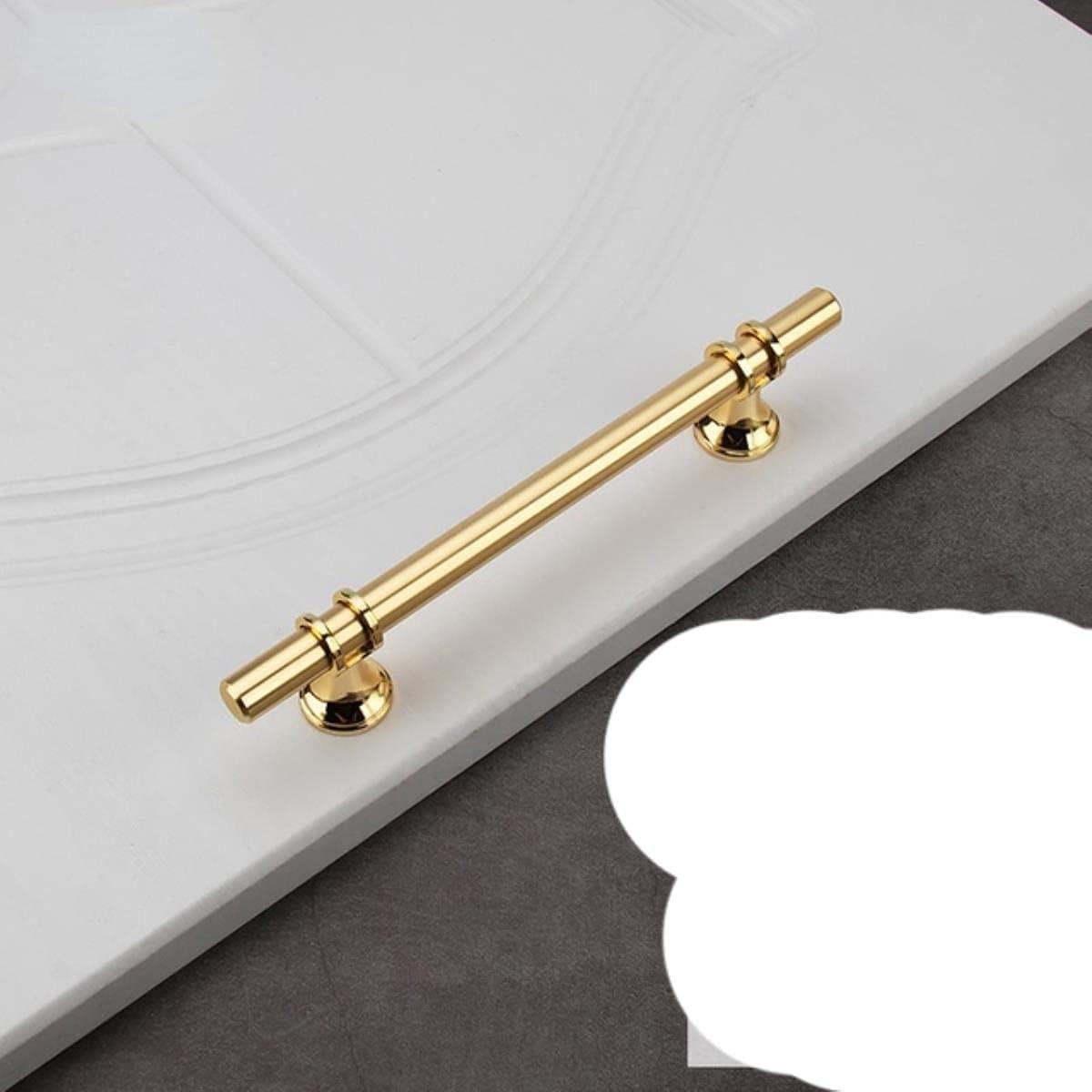 Manijas de aleación de zinc para muebles, perillas para gabinetes de cocina, manijas para armarios y cajones, manijas para puertas doradas y negras-Gold128MM
