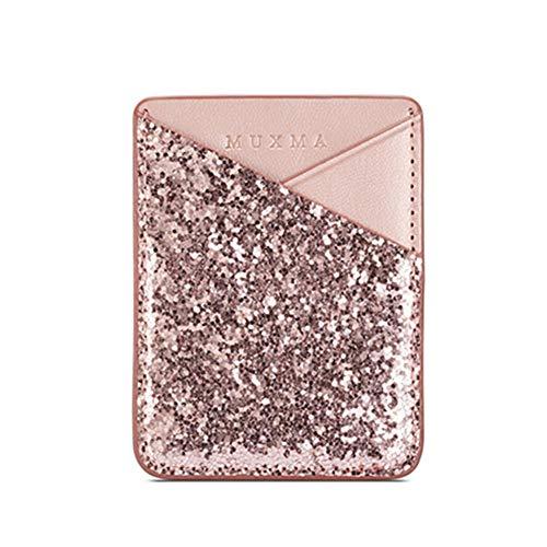 Moonlovey Porte-carte de téléphone en cuir synthétique - Porte-cartes - Mini étui pour smartphone