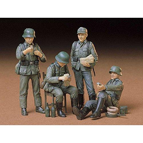 タミヤ 1/35 ミリタリーミニチュアシリーズ No.129 ドイツ歩兵 休息セット プラモデル 35129