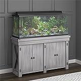 Flipper Wildwood 55 Gallon Aquarium Stand, Rustic White