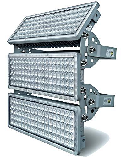 Rugging Flutlichter LED Flutlicht Außen 300W LED Strahler 30000lm Superhelle Fluter IP67 Wasserfest Außenstrahler 6500K 3 Flutlichtstrahler mit einstellbarem winkel für Sportplatz
