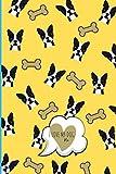 I LOVE MY DOG AND I LOVE YOU - CANI BOSTON TERRIER: Quaderno A5 a righe, copertina flessibile, carta di qualità, 100 pagine (QUADERNI I LOVE MY DOG - I LOVE YOU) (Italian Edition)