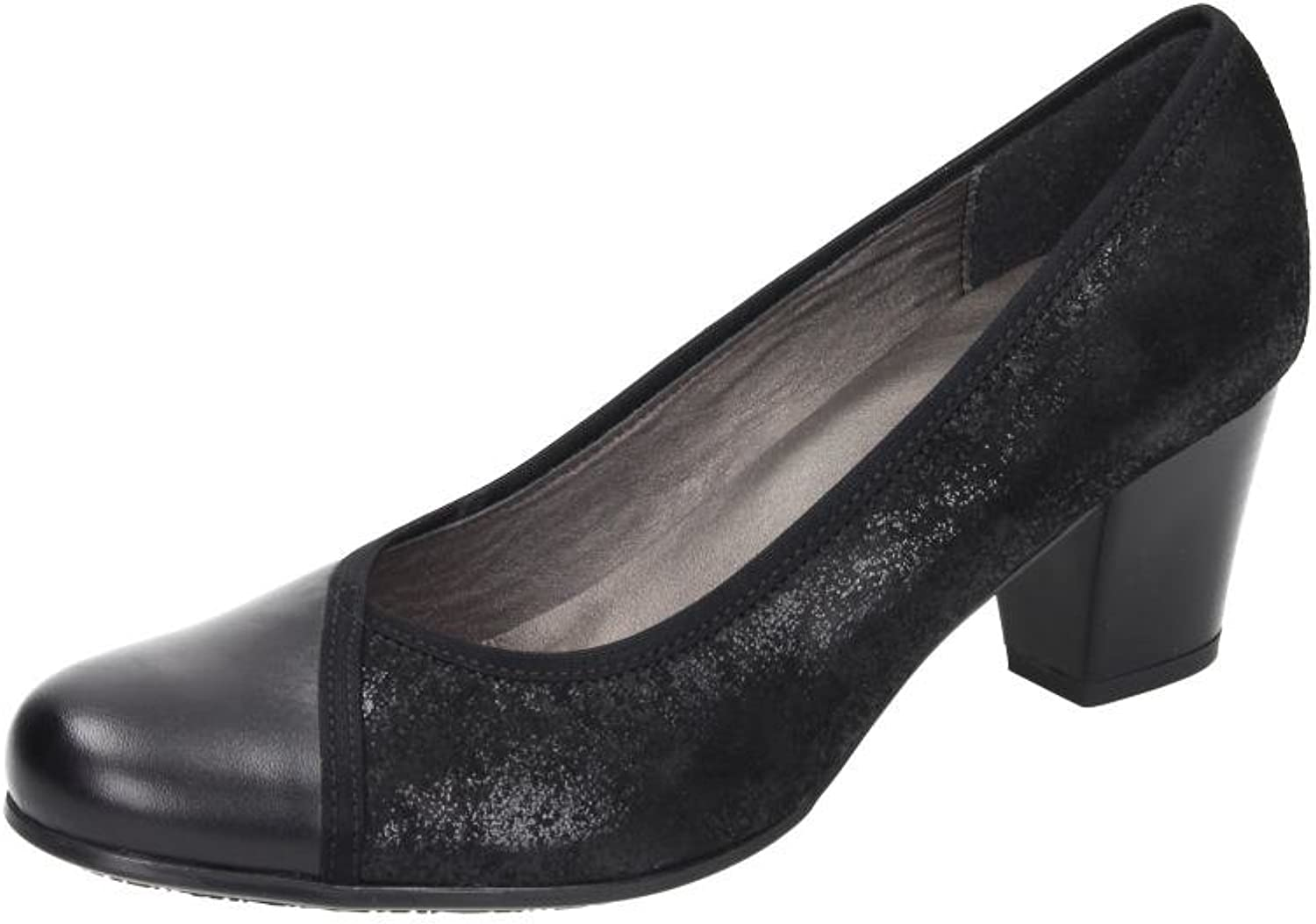 Comfortabel Damen Ballerinas black, 730378-1