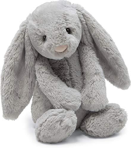 Jellycat Bashful Grey Bunny Stuffed Animal, Large, 15 inches