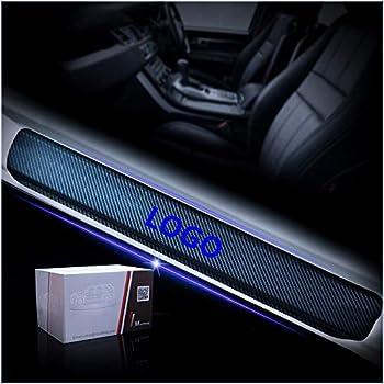 Kann angepasst Werden f/ür In finiti QX60 Kohlefaser Einstiegsleiste Schutz Aufkleber Carbon Fibre Car Door Sill Strips Reflektierende Sticker Kratzschutz mit Wort QX60 Blau 4St