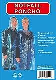 8 x Regenponcho Regen Poncho mit Kaputze Notfallponcho transparent
