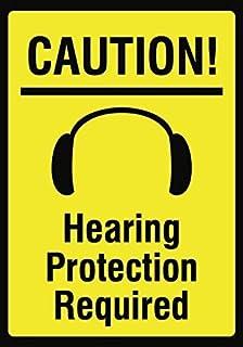 WENNUNA Precaución. Señal de protección auditiva – Señal de Seguridad de Ruido – Metal de Aluminio 2