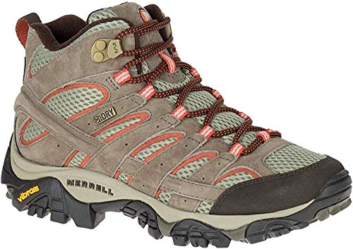 Merrell Women's Moab 2 Mid Waterproof Hiking Boot, Bungee Cord, 8 W US