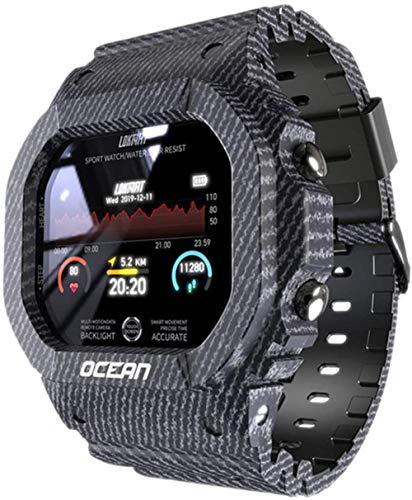Ocean Smart Watch - Reloj inteligente para hombre, monitor de presión arterial, mensaje de presión arterial, monitor de frecuencia cardíaca, reloj inteligente para mujer para Android C