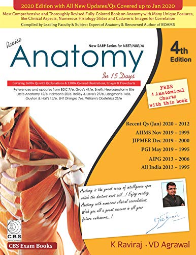 New Sarp Series For Neet Nbe Ai Revise Anatomy In 15 Days, 4th Edition - Original PDF