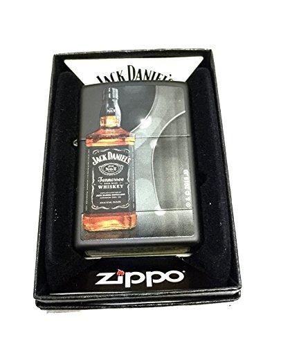 Zippo Custom Lighter - Jack Daniel's Whiskey Bottle - Regular Black Matte