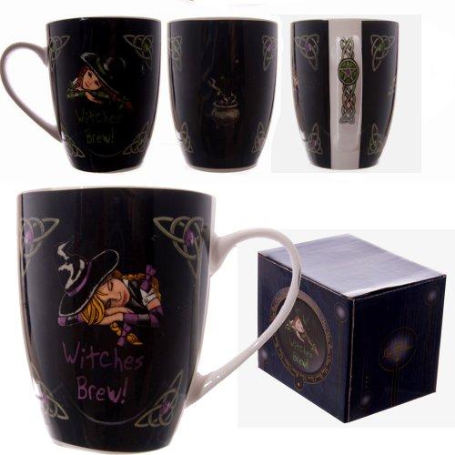 Witches Brew - brebaje de Brujas - Taza de Porcelana - diseado por el Artista Lisa Parker - en...