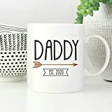 New Daddy Mug Daddy Est 2020 - Taza de café con texto 'Anuncio de embarazo para marido', diseño de papá