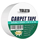Double Sided Carpet Tape for Area Rugs,Heavy Duty Sticky Adhesive Rug Gripper for Hardwood Floors,Outdoor Rugs,Pads,Mats,Stair Treads Non-Slip (2 Inch x 15Yards)