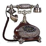 MHTCJ Vintage européen Vintage Résine Fixe Téléphone Clé Dial Antiquaires Téléphone Fixe pour Office Home Hotel