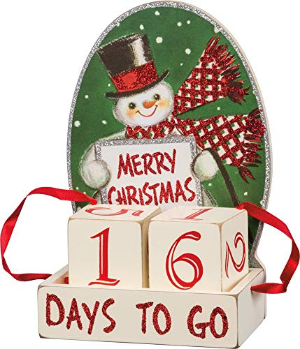 Primitives by Kathy Vintage-Inspired Block Countdown, Retro Christmas
