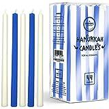 Menorah Candles Chanukah Candles 44 Tall White and Blue Hanukkah Candles for All 8 Nights of Chanukah (Single - Tall Hanukkah Candles)