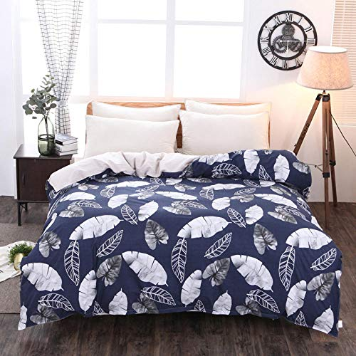 Evvaceo Child Duvet Cover Pillowcase 3D Cartoon Black White Feather 135 Cm X 200 Cm 3-Piece Set Boy Girl 3D Printing Bed Linings Superfine Fiber- Breathable- Super Soft- Hypoallergenic- Z(individual)