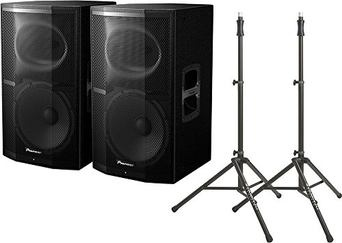Pioneer XPRS12 Powered Speakers (2) & TS100 Stands