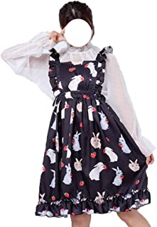 Packitcute Summer Dresses for Girls Bunny Printed A-Line Midi Dress